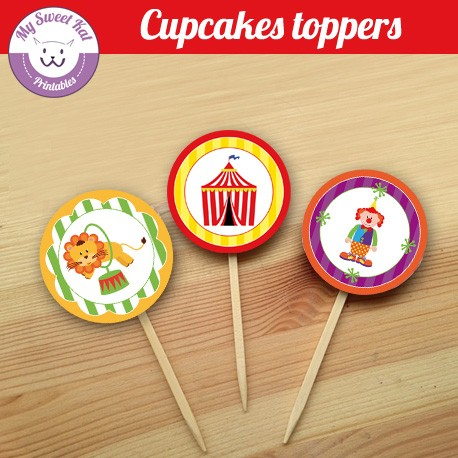 Cirque - Cupcakes toppers
