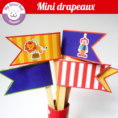 Cirque - mini drapeaux