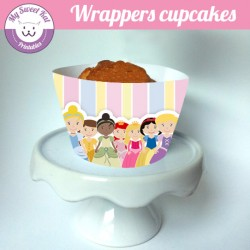 Princesses D - Cupcakes wrappers