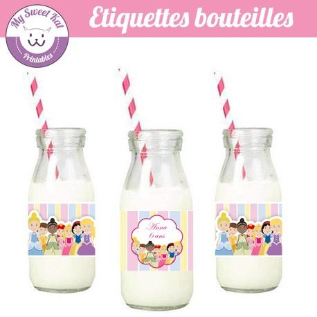 Princesses D - Eiquettes bouteilles