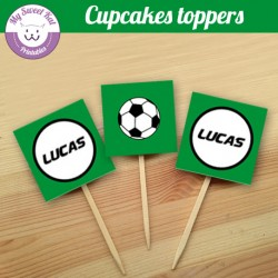 Foot - Cupcakes toppers