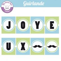 Moustache -  guirlande