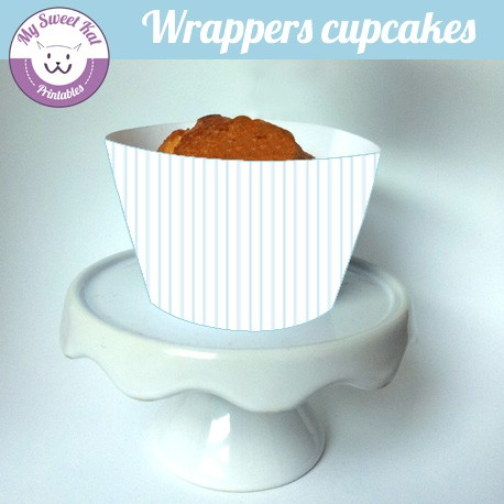 Moustache - Cupcakes wrappers