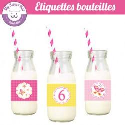 Papillon - Etiquettes bouteilles
