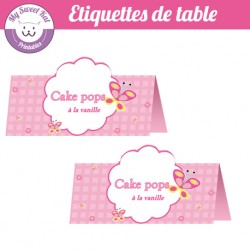 Papillon - Etiquettes de table