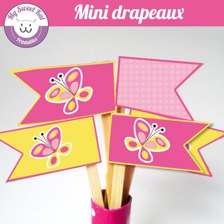Papillon - mini drapeaux