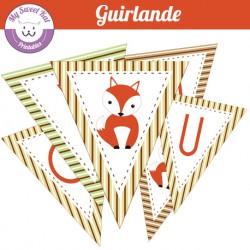 Renard  - Guirlande
