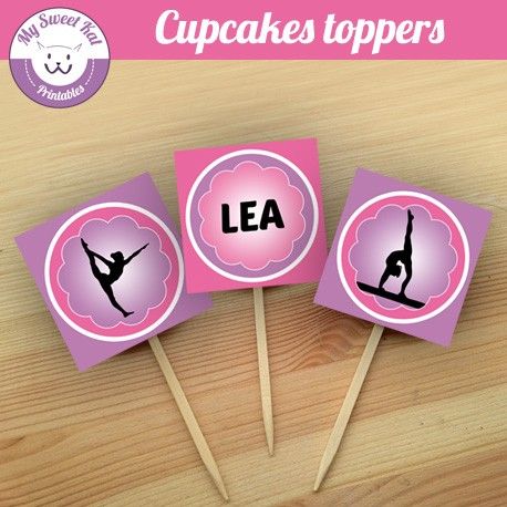 Gymnastique - Cupcakes toppers