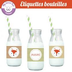 Renard - Etiquettes bouteilles