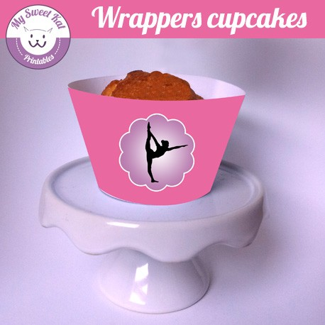 Gymnastique - Cupcakes wrappers