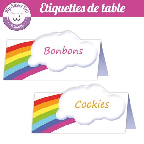 rainbow - Etiquettes de table