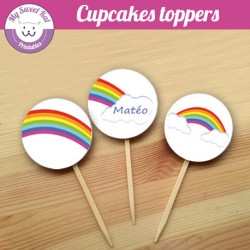 Rainbow- Cupcakes toppers