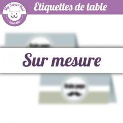 Etiquettes de table personnalisées