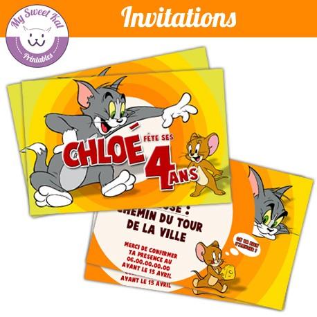tom et jerry - Invitations