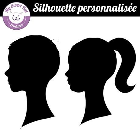 Silhouette personnalisée fille ou garçon