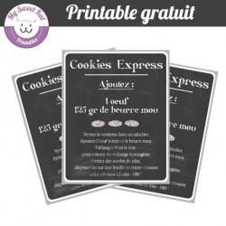 SOS Cookies- étiquettes chalkboard