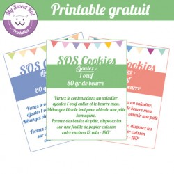 SOS Cookies- étiquettes fanions