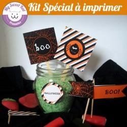 kit spécial Halloween Araignée