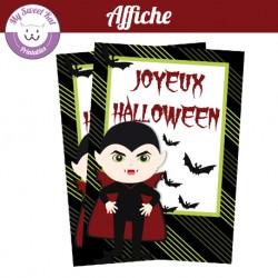 affiche halloween petit vampire