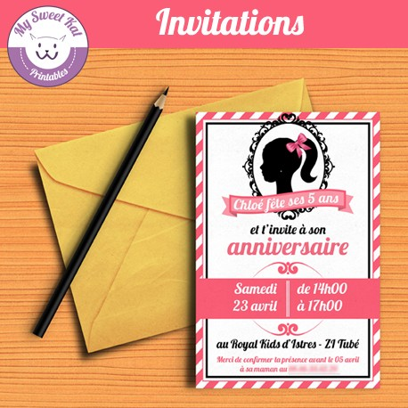 Barbie - Invitations