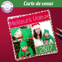 carte-de-voeux-avec-photo-carree-rouge-et-vert