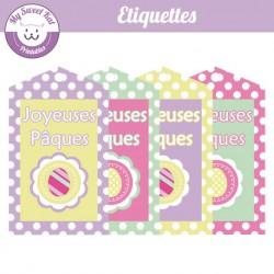Etiquettes pour Pâques - oeufs