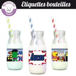 Baby Avengers - Etiquettes bouteilles