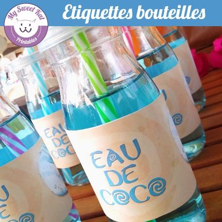 vaiana  - Etiquettes bouteilles