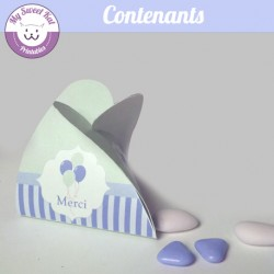 Baby shower 'Bleu' - contenants