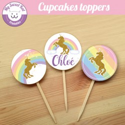 Licorne- Cupcakes toppers