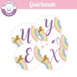 Licorne - Guirlande