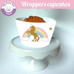 licorne - Cupcakes wrappers