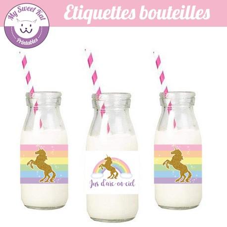 licorne - Etiquettes bouteilles