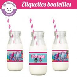 Trolls - Etiquettes bouteilles