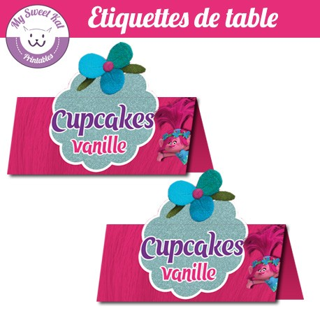 trolls - Etiquettes de table