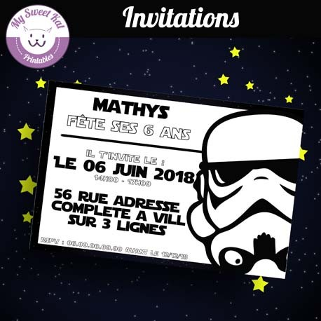 Star Wars- Invitations (stormtrooper)