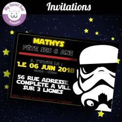 Star Wars- Invitations (stormtrooper-noir)