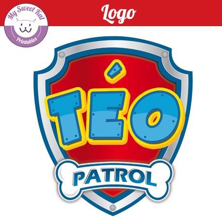 Logo personnalisé pat'patrouille