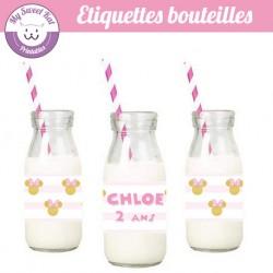 Minnie- Etiquettes bouteilles