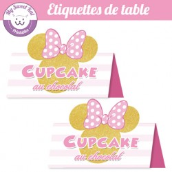Minnie - Etiquettes de table