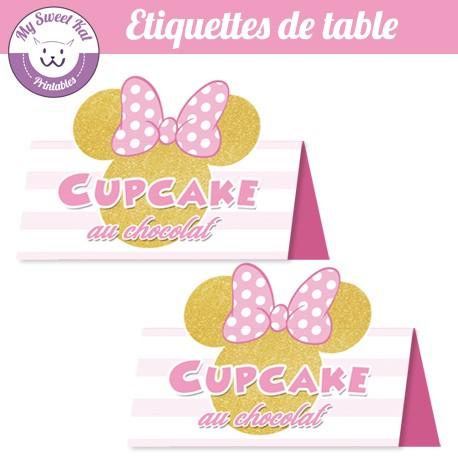 Minnie - Etiquettes de table