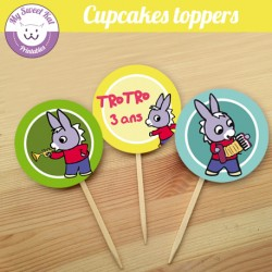 Trotro - Cupcakes toppers