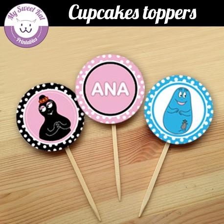 Barbapapa- Cupcakes toppers