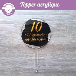 Cake Topper acrylique transparent et peinture