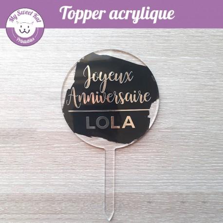 Cake Topper - argenté