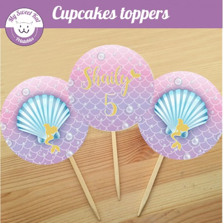 Sirène - Cupcakes toppers