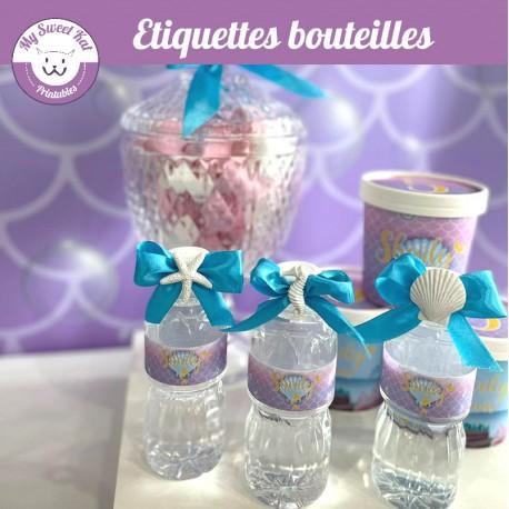 Sirène - Etiquettes bouteilles