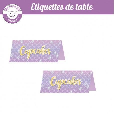 Sirène - Etiquettes de table
