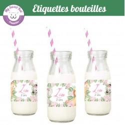 Safari bébé - étiquettes bouteilles