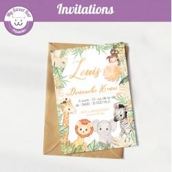 Safari bébé  - Invitations